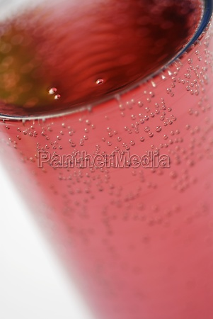 close up of soda in a