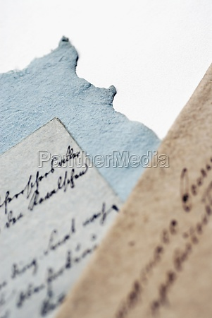 close up of handwritten text on