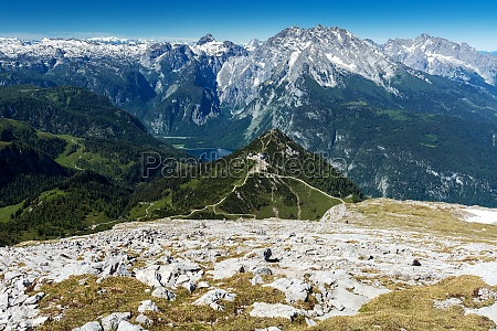 snow of the alps in summer
