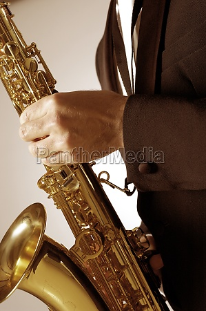 mid section view of a musician