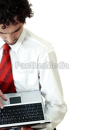 high angle view of a businessman