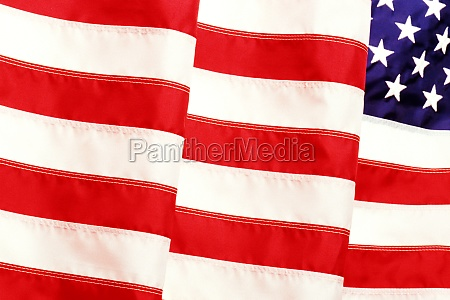 close up of an american flag