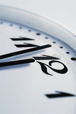 closeup of a clock