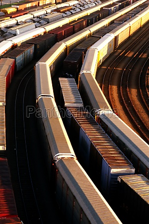 freight cars in baltimore rail yard