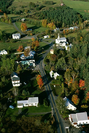 aerial view of west barnet vermont