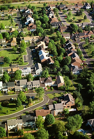 aerial view of montgomery county housing