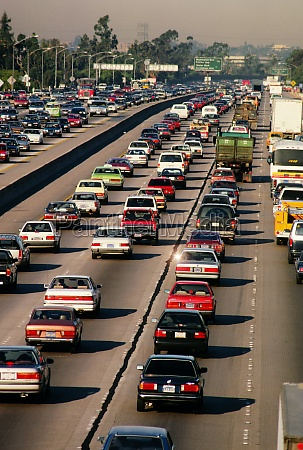 traffic on los angeles highway