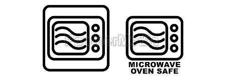microwave safe container icon simple black