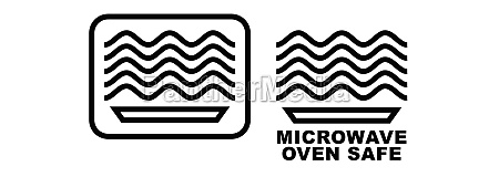 microwave oven safe item symbol simple