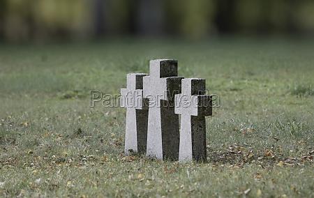 three granite crosses erected in europe
