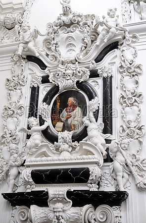 stucco epitaph of cathedral canon georg