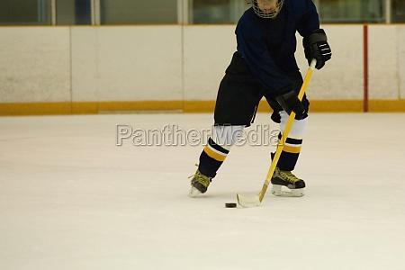 close up of an ice hockey