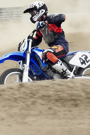 side profile of a motocross rider