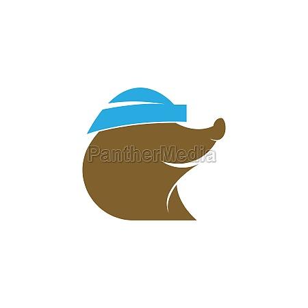 mole animal logo icon design illustration