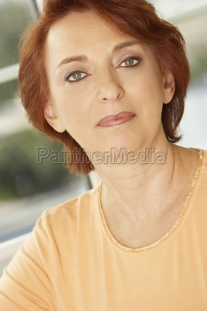 portrait of a senior woman looking
