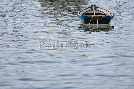 boat in the sea italian riviera