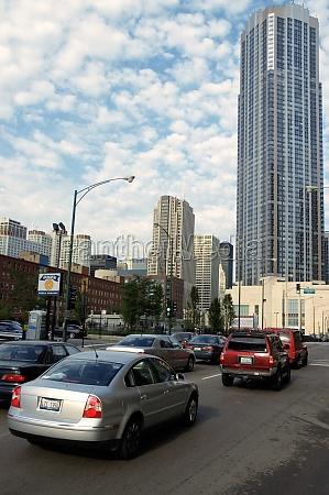 traffic on the street chicago illinois