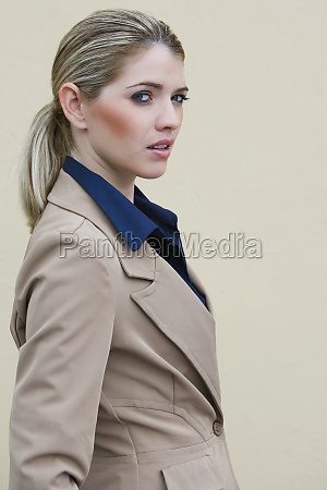 portrait of a businesswoman standing