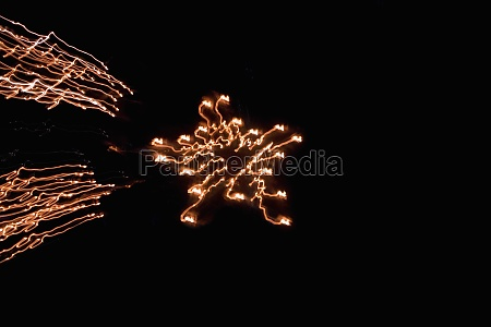 low angle view of fire crackers