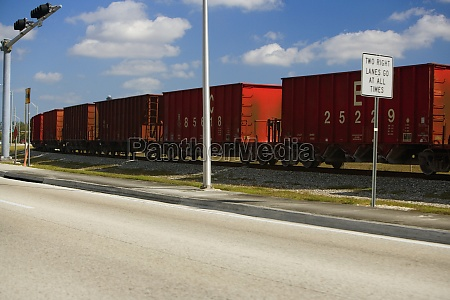 freight train on a railroad track