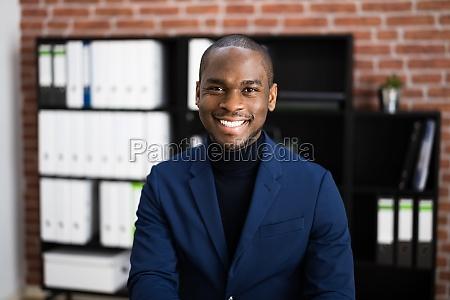 happy professional african employee