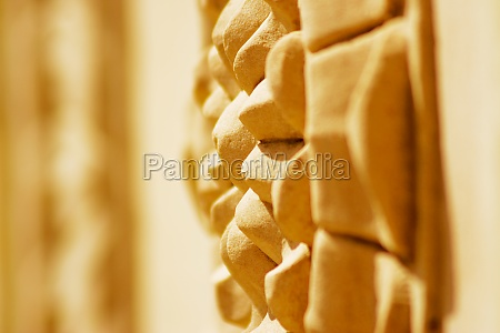 close up of a carved wall