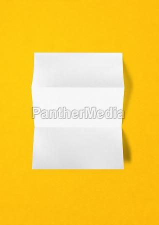 blank folded white a4 paper sheet