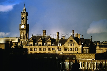 front view of a clock tower