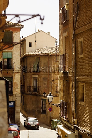 buildings along a street toledo spain