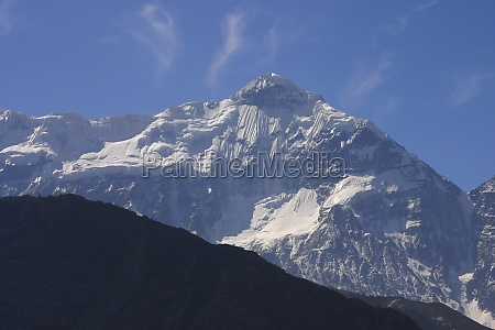 mountains covered with snow annapurna range