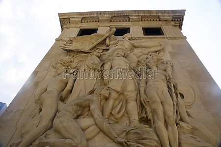 low angle view of a sculpture