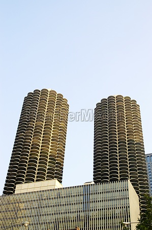 low angle view of buildings chicago
