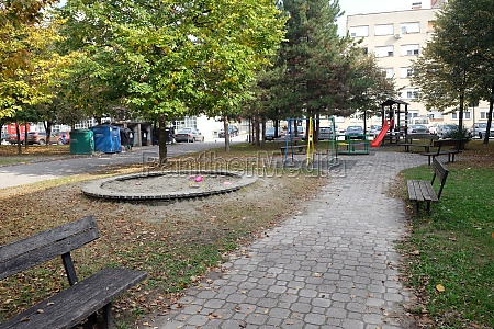 kids playground in malesnica residential area