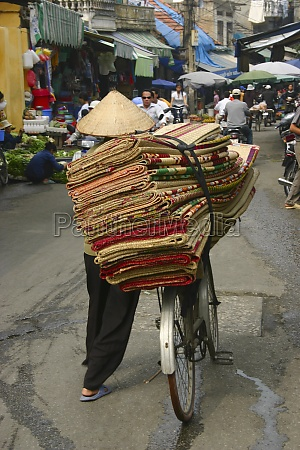 rear view of a man selling