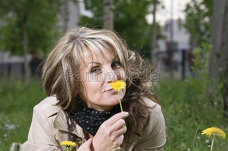 smell at the flower