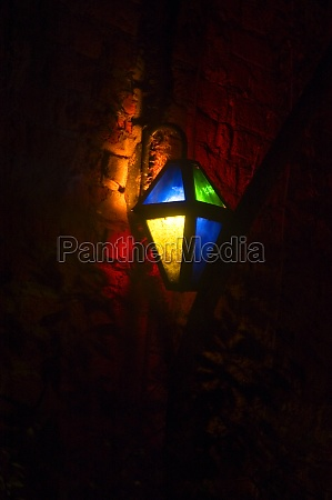 low angle view of a lantern