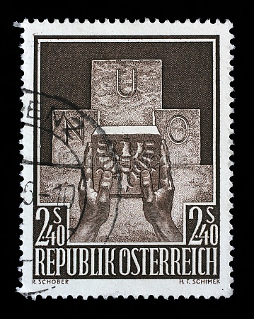 stamp printed in the austria shows