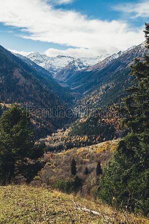 deep beautiful valley in autumn in