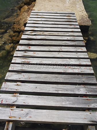 high angle view of a boardwalk