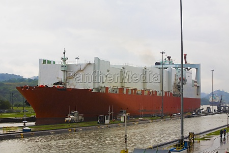 container ship at a commercial dock