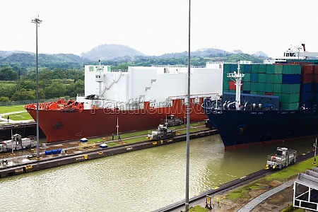 container ships at a commercial dock