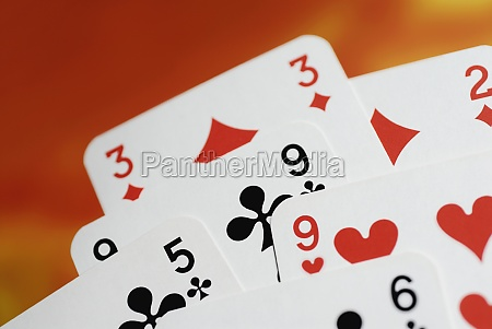 closeup of playing cards