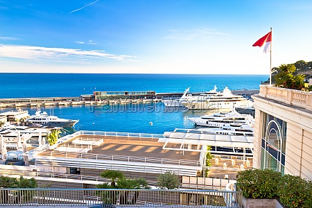 monte carlo yachting harbor and waterfront