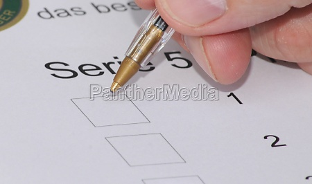 voting with ballot paper in a