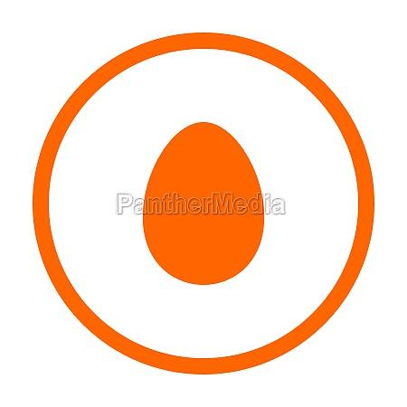 egg and circle