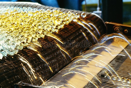 close up of fiberglass on a