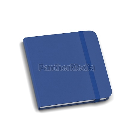 blank notebook with elastic band closure