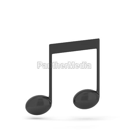 single music note