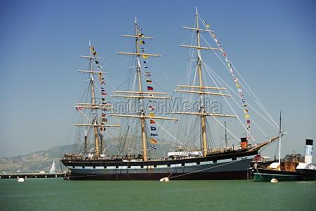 sailing ship in a sea