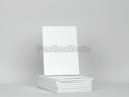 blank magazine mockup